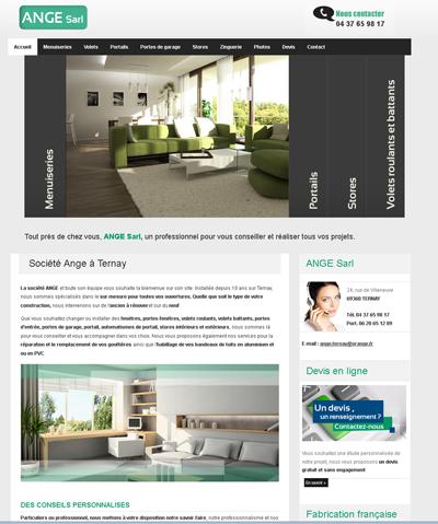 site internet de la société Ange
